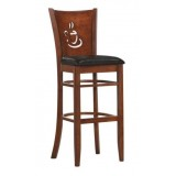Деревянный барный стул LMU-9131