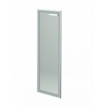 Дверь стеклянная в алюм. раме НТ-601 Л/Пр Рстл