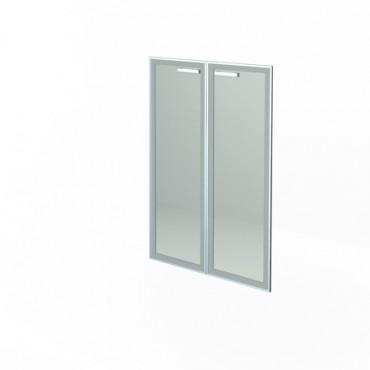Комплект дверей стеклянных в алюм. раме НТ-601.2 РСТЛ