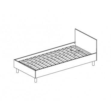 Кровать односпальная AC-51 (2040х950х600), с ортопед. основанием