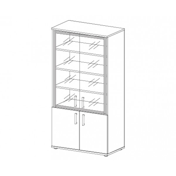 Шкаф со стеклом в алюминиевой раме н-028 в интернет-магазине.