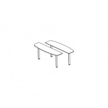 Приставка-окончание для конференц стола Н-029 ч.2 (2 шт.)