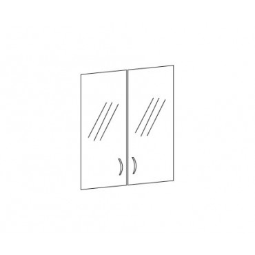 Комплект дверей стеклянных К-983