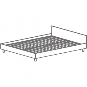 Кровать двуспальная с изголовьем, на ортопедическом основании Т-403