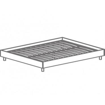 Кровать двуспальная без изголовья, на ортопедическом основании Т-404