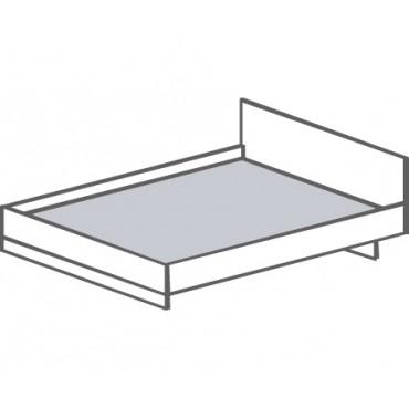 Кровать двуспальная с изголовьем, с настилом из МДФ Т-415