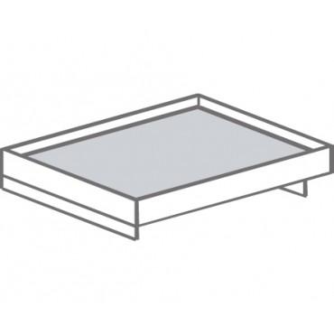 Кровать двуспальная без изголовья, с настилом из МДФ Т-414