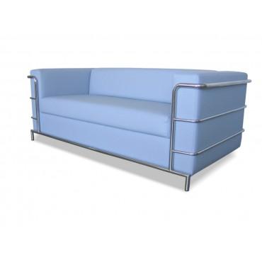 Двухместный диван Аполло люкс (хромированный каркас)