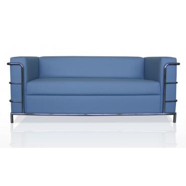 Трехместный диван Аполло люкс (хромированный каркас)