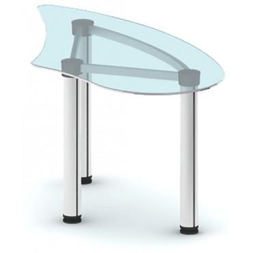 Приставка с торца стола ПРК-ПР150х76ПС/МК-В3 (зеленое стекло)