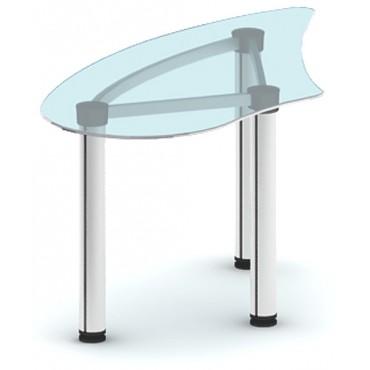 Приставка с торца стола ПРК-ПР150х76ЛС/МК-В2 (белое стекло)