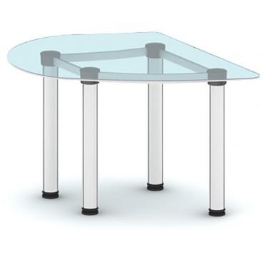 Приставка с торца стола ПР-ПР116х92ПС/МК-В2 (белое стекло)