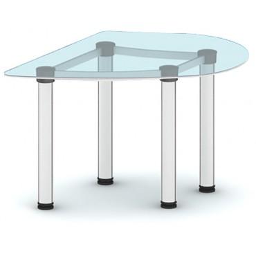 Приставка с торца стола ПР-ПР116х92ЛС/МК-В2 (белое стекло)