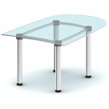 Приставка спереди стола ПРК-ПР144х103С/МК-В3 (зеленое стекло)
