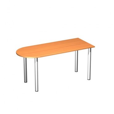 Стол письменный полукруглый на хромированных опорах ФР-2102